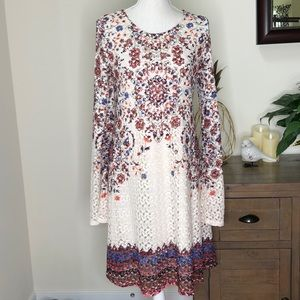 Xhilaration crochet dress with bell sleeves